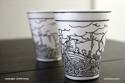 Art On Styrofoam Cups (11) 11