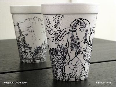 Art On Styrofoam Cups (11) 4