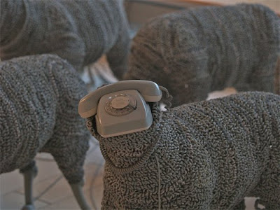 Creative Sheep Sculptures Made From Rotary Telephones (10) 4