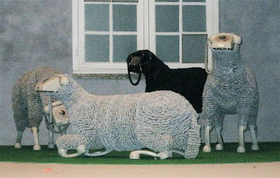 Creative Sheep Sculptures Made From Rotary Telephones (10) 10