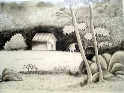 Picture Nature on 99 Charcoal Drawings  Nature Drawing