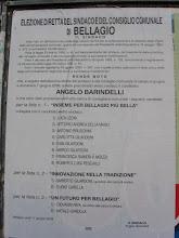 Gli eletti di Bellagio nel 2009! Buon Lavor Sindaco Angelo BARINDELLI!