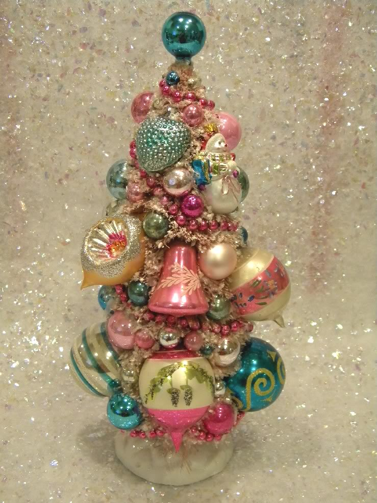 Ms bingles vintage christmas bottle brush trees
