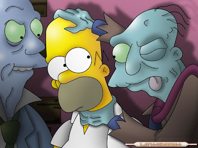 The Walking Dead Homero_zombies