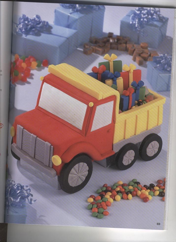 Торт для мальчика с грузовиком