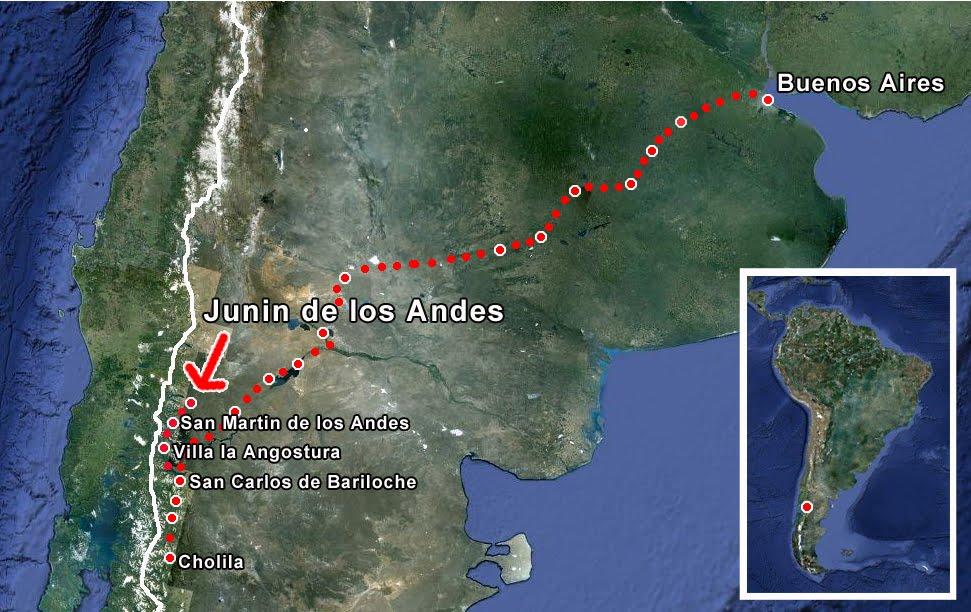 The Bicycle Diaries Junin De Los Andes Mini Update - Junin argentina map