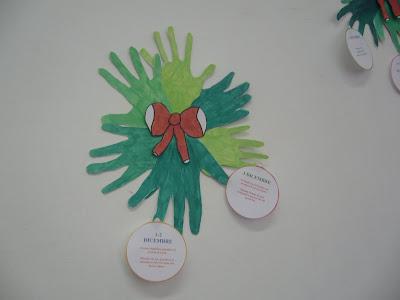 Abbiamo anche eseguito un albero di natale fatto tutto con le mani