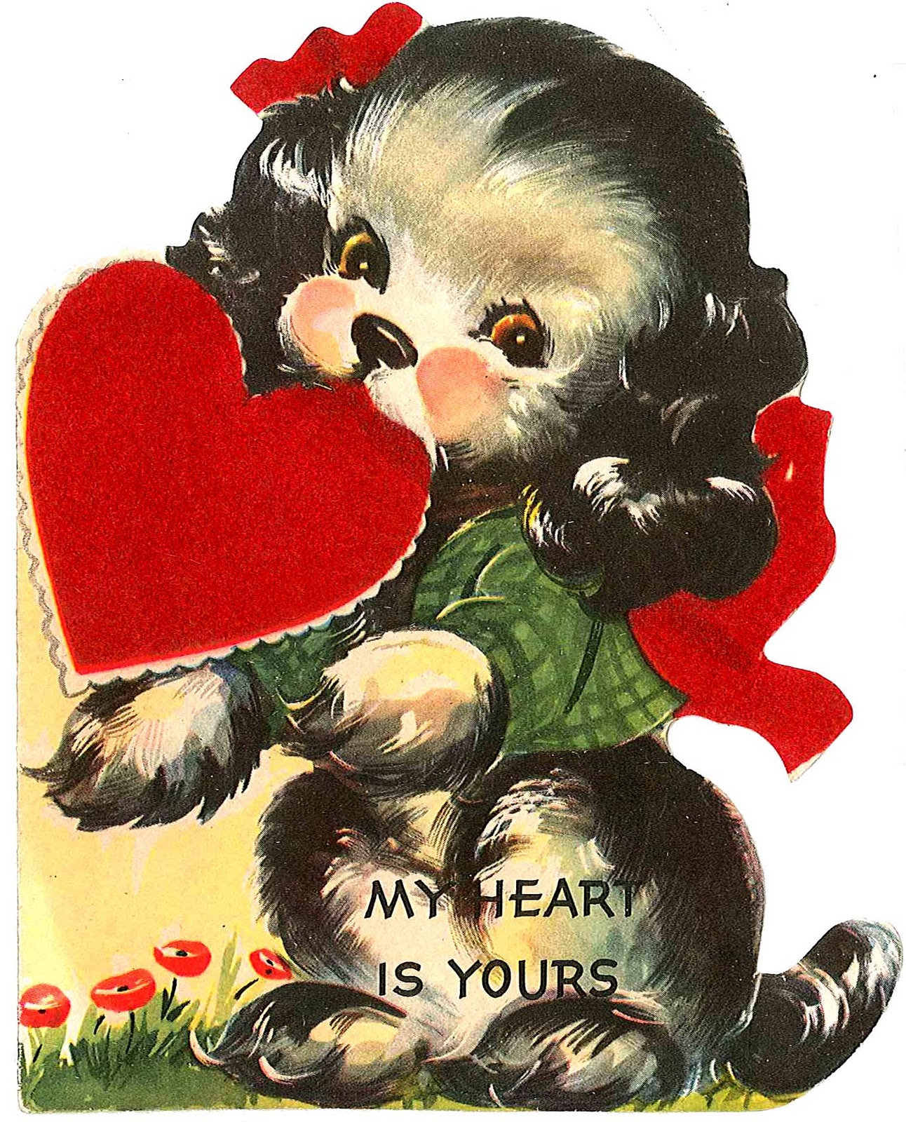 Very Merry Vintage Syle Vintage Valentine Card Images  Decor