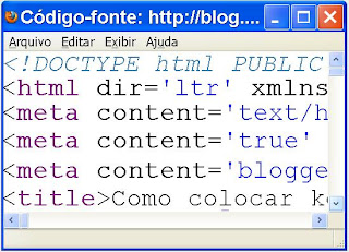 Colocar keywords no blogger?