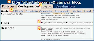 titulo e description do blogger
