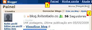 onde encontrar e remover ou fazer bloqueio de seguidores do blogger.com, seu blogspot