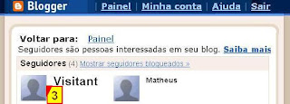 Seguidores do blogspot no blogger.com