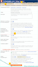 Ativar edição rápida de blog do blogger