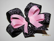 Black and Pink Bow $6.00