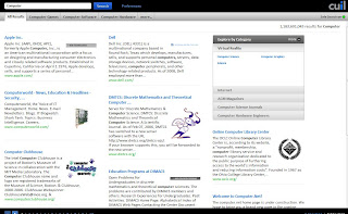 Cuil Search result page