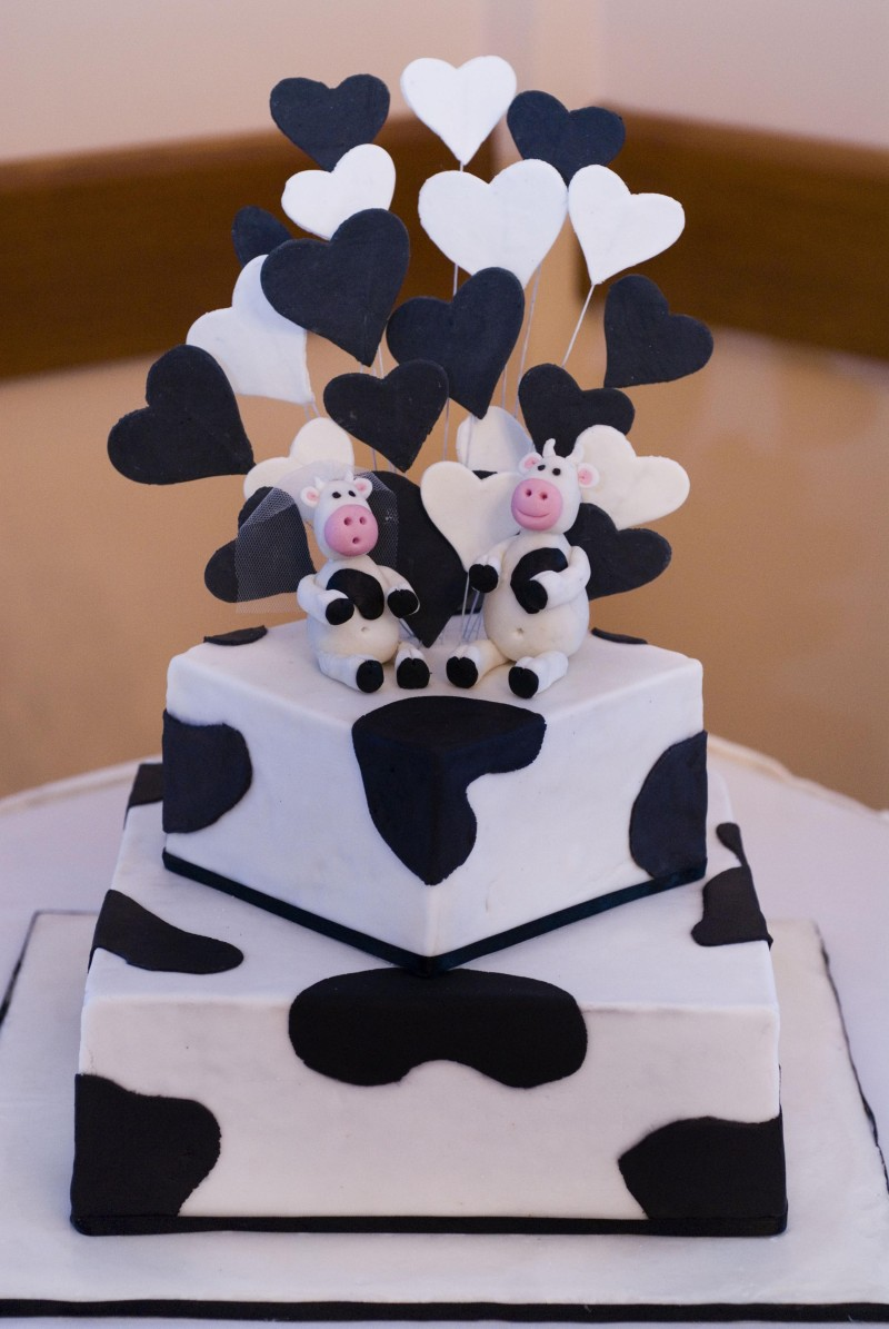 Cow Cake Topper Wedding