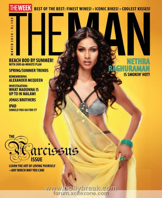 , Hot Model Nethra Raghuraman Sizzles on THE MAN Magazine Cover