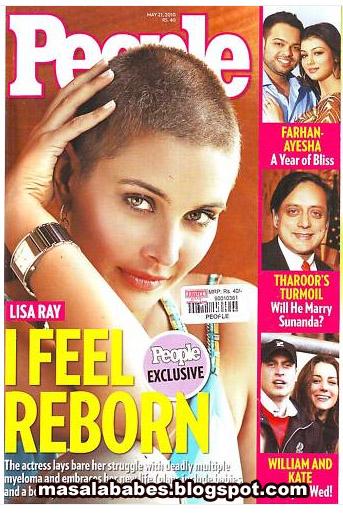 , Lisa Ray People Magazine Bald Scans