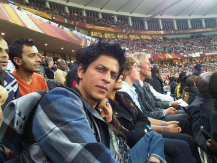 Shahrukh Khan at football world cup!