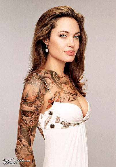 Hollywood Celebs Shocking Tattoos Pics