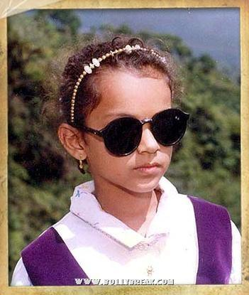 Kangana Ranaut Childhood Real Life Pics with Family