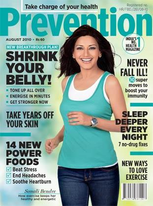 Sonali Bendre Prevention Magazine Cover August 2010