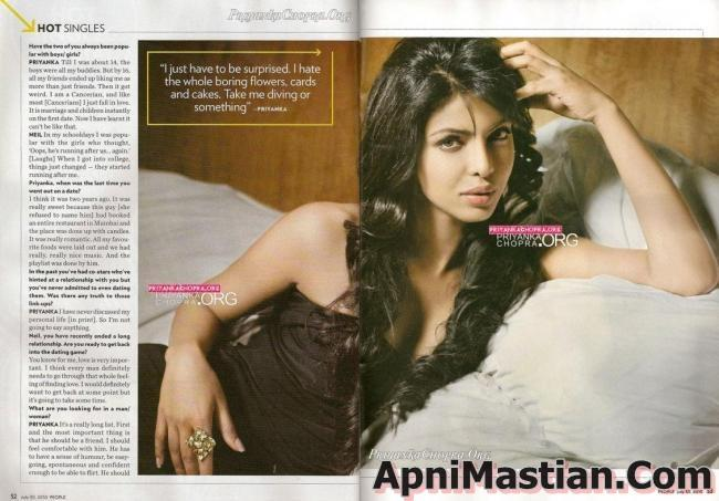 , Priyanka Chopra latest Peoples Magazine Scans