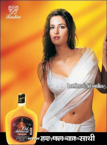 , Katrina Kaif Hot Admiral Brandy Ad Pics - Unseen