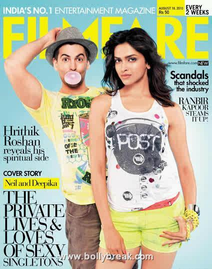  Neil Nitin Mukesh And Deepika On Filmfare Cover