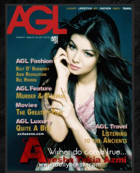  Ayesha Takia AGL Magazine Cover Scan
