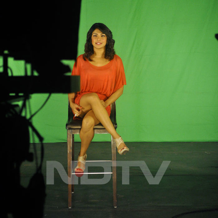  Priyanka Chopra in Orange Tank Top at NDTV Campaign 