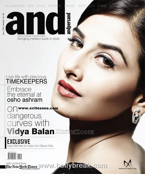 Vidya Balan on the Cover of Andpersand Magazine