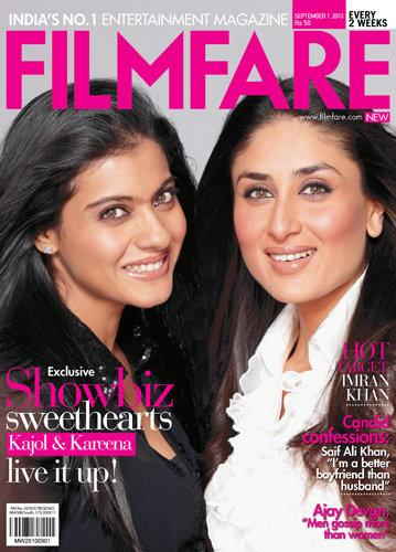 Kareena And Kajol On Filmfare Magazine Cover September 2010