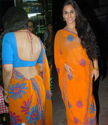 Vidya Balan in Backless Saree's - Full Collection