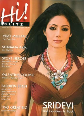 , Sridevi on Hi! Blitz Sept 2010 Cover