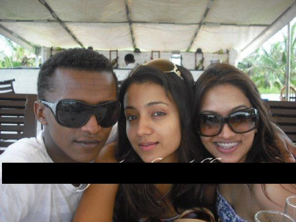 Trisha Krishnan with her Druggie Nigerian friend
