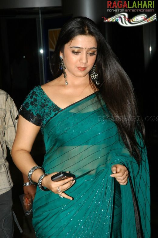 Telugu Actress charmi Hot in Green Saree