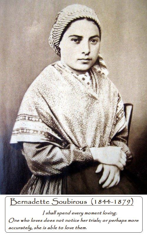 biography of saint bernadette soubirous Image: saint bernadette soubirous april 16 is the feast of saint bernadette soubirous, a mystic and visionary at lourdes, france saint bernadette is the patron saint.