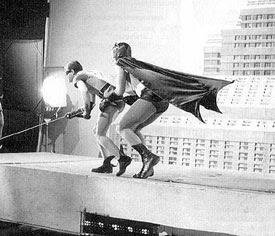 Batman Robin Climbing 60s