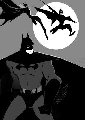 Batman Batgirl Robin Silhouettes