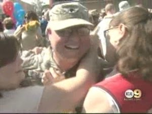 Spc. DAVE MENELEY ARRIVES HOME