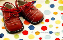 Red little boy's shoes