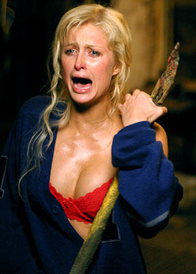 Paris Hilton in the movie The House of Wax