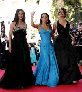 Eva Longoria Parker, Indian actress Aishwarya Rai and French actress Rachida Brakni