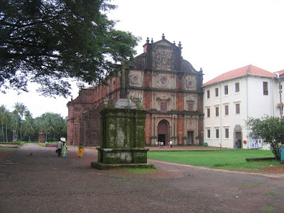 Basilica of Bom Jesus at Goa, India, where the body of St. Francis Xavier is housed