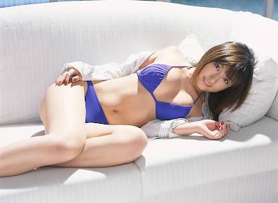 Foreign Girl in blue bikini