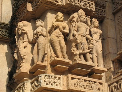 Sculpture at Lakshman Temple, Khajuraho 3