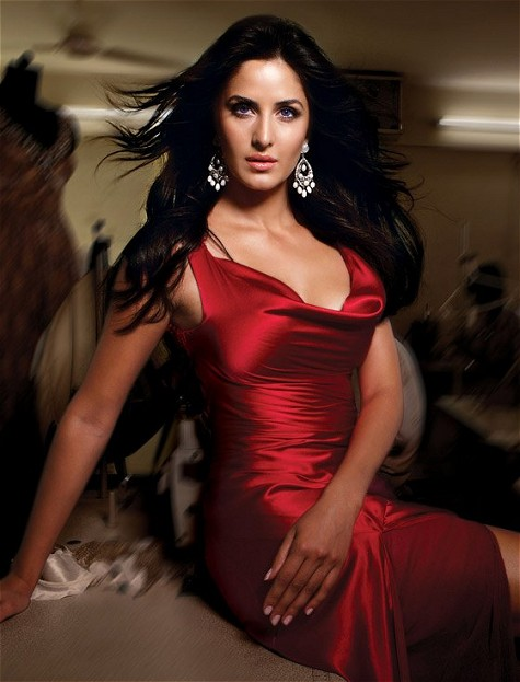 Katrina Kaif in red sexy dress