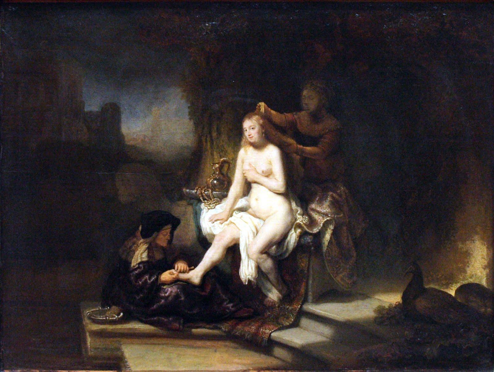 the toilet of bathsheba or batseba aan haar toilet 2 samuel 11 2 a ...