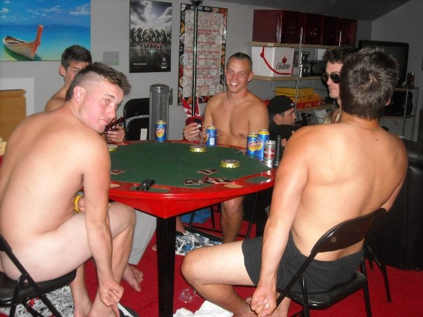 Gay guys playing strip poker